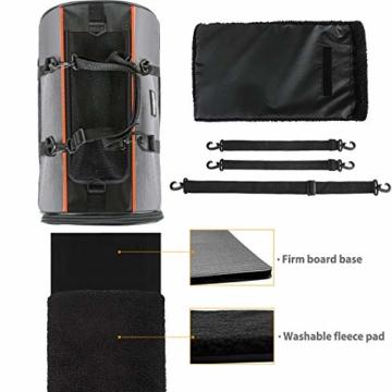 Songwin Hundetasche, Hundebox, faltbar Hundetransportbox Auto Transporttasche für Haustiere,Katzenbox,Grau (Katzentragetasche) - 7