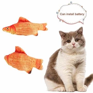Sunshine smile elektrische Fische Katze,katzenminze Fisch Spielzeug,katzenspielzeug Fisch elektrisch beweglich,Simulation Fisch,elektrische Fische plüsch,Katze interaktive Spielzeug (D) - 3