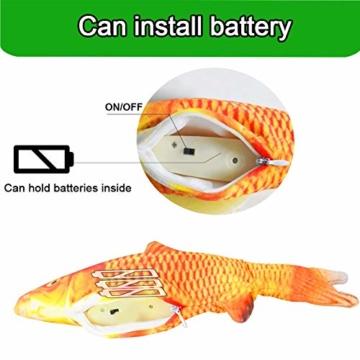 Sunshine smile elektrische Fische Katze,katzenminze Fisch Spielzeug,katzenspielzeug Fisch elektrisch beweglich,Simulation Fisch,elektrische Fische plüsch,Katze interaktive Spielzeug (D) - 5