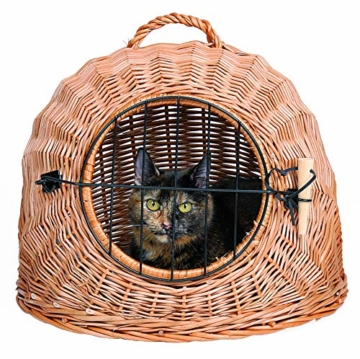 Trixie 2870 Korbhöhle mit Gitter, ø 45 cm, braun - 1