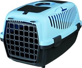 Trixie 39822 Transportbox Capri 2, XS–S: 37 × 34 × 55 cm, dunkelgrau/pastellblau - 1