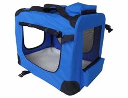 weico Hundebox Transportbox Auto Hundetransportbox faltbar Katzenbox Katzentransportbox Oxford Gewebe Tragetasche Hund Katze Haustier, (L = 70 x 52 x 52, blau) - 1