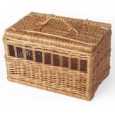 Weidenprofi Tiertransportkorb, Transportbox für Tiere aus geschälter Weide, Tierkorb für Katzen und kleine Hunde - Größe (LxBxH): 50 x 30 cm, 30 cm hoch - 1