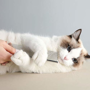 XXDYF Haustierpflege-Set für Katzen und Hunde, Katzenpflegeset Katzen Nagelknipser Haustierkamm Nagelschneider für Katze und Hund Universal,Weiß - 3