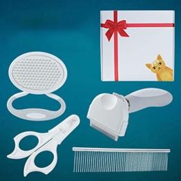 XXDYF Haustierpflege-Set für Katzen und Hunde, Katzenpflegeset Katzen Nagelknipser Haustierkamm Nagelschneider für Katze und Hund Universal,Weiß - 1