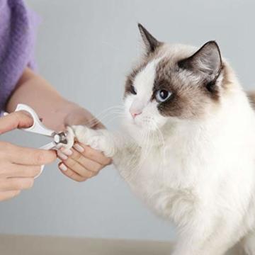 XXDYF Haustierpflege-Set für Katzen und Hunde, Katzenpflegeset Katzen Nagelknipser Haustierkamm Nagelschneider für Katze und Hund Universal,Weiß - 4